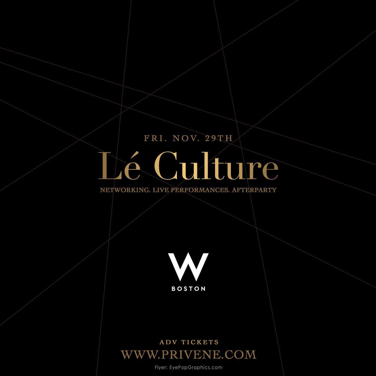 LE CULTURE - Live Performances Event
